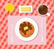 Ontbijt vlakke illustratie Royalty-vrije Stock Afbeelding
