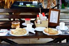 Ontbijt voor twee royalty-vrije stock foto's