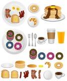 Ontbijtpictogrammen Stock Afbeeldingen