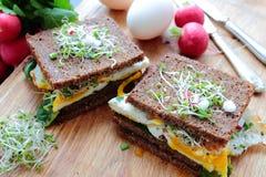 Ontbijtsandwich Royalty-vrije Stock Afbeelding