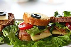 Ontbijttoost met bacon Stock Foto's