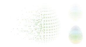 Ontbonden Dot Halftone Abstract Egg Rotation-Pijlenpictogram stock illustratie