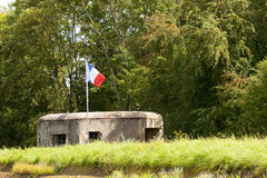 Ontbonden Franse defensie Stock Foto