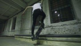 Ontbreek in skatepark stock videobeelden