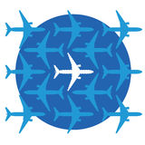 Ontbrekend Vliegtuig Stock Afbeelding