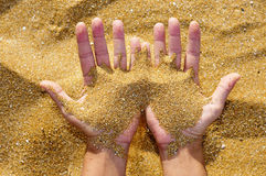 Ontbrekend zand Stock Afbeelding