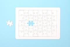 Ontbrekende puzzelstukken Stock Foto