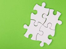 Ontbrekende puzzelstukken Bedrijfs concept Complitings definitieve taak Stock Afbeelding