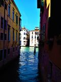 Ontdek de stad van Venetië, Italië Betovering, uniciteit en magisch stock afbeelding