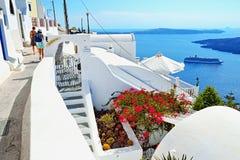 Ontdek Santorini Stock Afbeelding