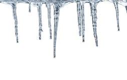 Ontdooiende ijskegels Royalty-vrije Stock Foto's