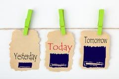 Ontem hoje amanhã foto de stock royalty free
