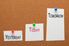 Ontem hoje amanhã imagem de stock