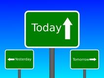 Ontem hoje amanhã Imagens de Stock Royalty Free