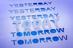 Ontem, hoje e amanhã imagem de stock royalty free