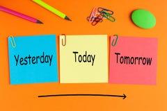 Ontem, hoje e amanhã fotografia de stock royalty free