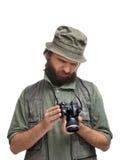 Ontevreden fotograaf Stock Afbeeldingen