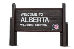Onthaal aan Alberta Stock Afbeelding