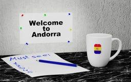 Onthaal aan Andorra vector illustratie