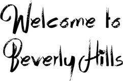 Onthaal aan Beverly Hills California-tekst sogm illustratie royalty-vrije illustratie