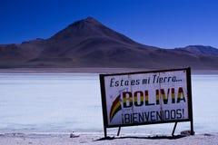 Onthaal aan Bolivië Stock Foto's