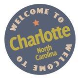 Onthaal aan Charlotte North Carolina vector illustratie