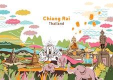 Onthaal aan Chiang Rai Thailand Stock Foto