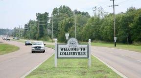 Onthaal aan Collierville, Tennessee Stock Fotografie