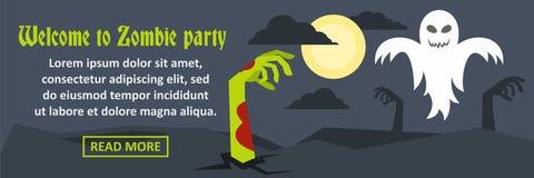 Onthaal aan de banner horizontaal concept van de zombiepartij Royalty-vrije Stock Fotografie