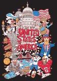Onthaal aan de illustratie van de Verenigde Staten van Amerika stock fotografie