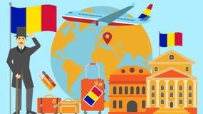 Onthaal aan de prentbriefkaar van Andorra Reis en safari het concept de wereld van Europa brengt vectorillustratie met nationale  vector illustratie