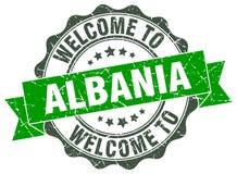 Onthaal aan de verbinding van Albanië vector illustratie