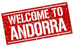 onthaal aan de zegel van Andorra stock illustratie