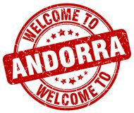 onthaal aan de zegel van Andorra vector illustratie