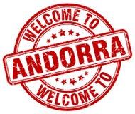 onthaal aan de zegel van Andorra royalty-vrije illustratie