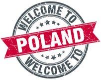 Onthaal aan de zegel van Polen Stock Afbeeldingen