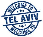 onthaal aan de zegel van Tel Aviv royalty-vrije illustratie