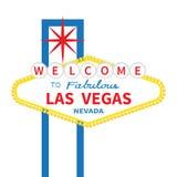 Onthaal aan fabelachtig het tekenpictogram van Las Vegas Klassieke retro stock illustratie