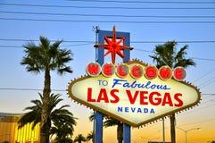 Onthaal aan Fabelachtige Las Vegas Stock Fotografie