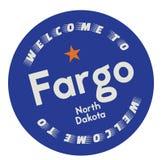 Onthaal aan Fargo North Dakota stock illustratie