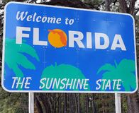 Onthaal aan Florida royalty-vrije stock foto's
