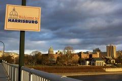 Onthaal aan Harrisburg Stock Foto's