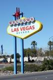 Onthaal aan het Fabelachtige teken van Las Vegas Royalty-vrije Stock Fotografie