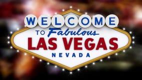 Onthaal aan het fabelachtige teken van Las Vegas stock videobeelden