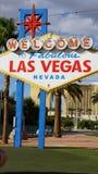 Onthaal aan het Fabelachtige Teken van Las Vegas Stock Fotografie