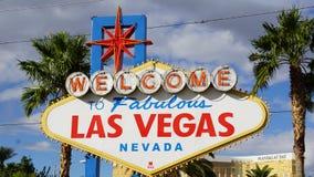 Onthaal aan het Fabelachtige Teken van Las Vegas Stock Foto