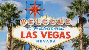 Onthaal aan het Fabelachtige Teken van Las Vegas Royalty-vrije Stock Afbeeldingen