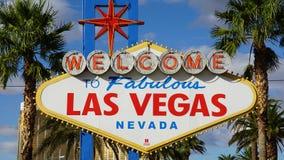 Onthaal aan het Fabelachtige Teken van Las Vegas Royalty-vrije Stock Afbeelding