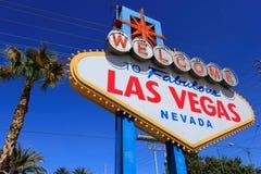 Onthaal aan het Fabelachtige teken van Las Vegas, Nevada Stock Fotografie
