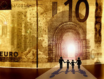 Onthaal aan het Koninkrijk van Geld Stock Fotografie